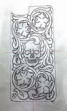 Cell phone case design by Rex Goulet of Moaalii Leather.