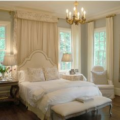 Dreamy bedroom - This is the ambiance the master should have but HOW TO INCORPORATE IT in the space we have?