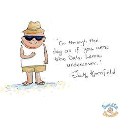 dalai lama undercover {today's doodle}