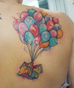 Up tattoo's watercolor by  monica manara