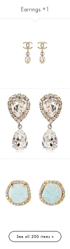 """""""Earrings #1"""" by jennachurch on Polyvore featuring jewelry, earrings, chanel jewellery, gold jewelry, earrings costume jewellery, gold earrings jewelry, chanel, accessories, brincos and jewels"""