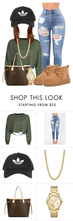 """""""Neumel"""" by officially-beautiful ❤ liked on Polyvore featuring WithChic, UGG, Topshop, Louis Vuitton and Michael Kors"""
