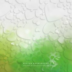 Abstract Valentines Day Light Green Heart Background