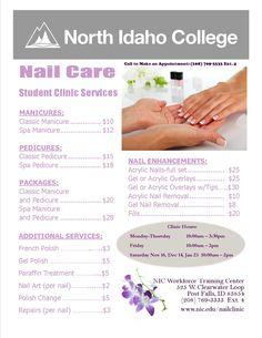 Menu of Nail Services