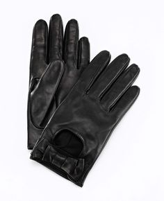 Ann Taylor - AT Scarves Accessories - Short Bow Leather Driving Gloves
