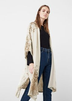 Silk-blend caftan