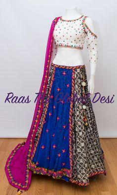 CHANIYACHOLI2018 New Saree Blouse Designs, Choli Blouse Design, Choli Designs, Kurta Designs Women, Lehenga Designs, Indian Bridal Outfits, Indian Fashion Dresses, Indian Designer Outfits, Garba Dress