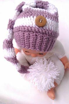 Babymütze Zipfelmütze für profess. Babyfotographie
