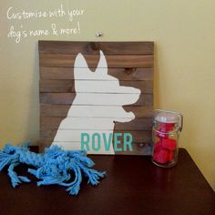German Shepherd Silhouette Reclaimed by theurbanottershop on Etsy