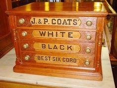 Spool cabinet. Wish I had Grandma's :>(