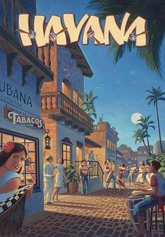 The Travel Tester vintage travel poster collection. It's time to get nostalgic with this week's retro destination: Vintage Travel Posters Cuba Old Poster, Poster Retro, Poster Art, Print Poster, Pub Vintage, Photo Vintage, Vintage Havana, Vintage Cuba, Vintage Photos