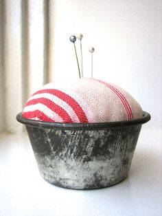 pincushion vintage cake mould galvanized steel and by nocturneii