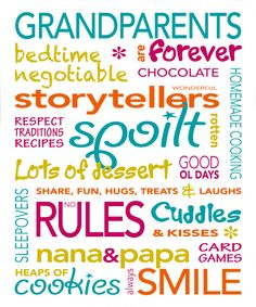 Grandparents Quotes And Sayings | Grandparents Nanna Poppa Grandpa Grandma Poems Verses