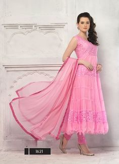 Different Pattern In Light Pink Anarkali Suits