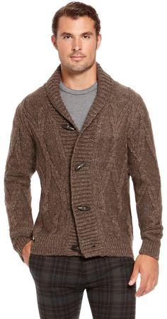 Shop designer clothes and accessories at Hugo Boss. Find the latest designer suits, clothing & accessories for men and women at the official Hugo Boss online store. Shawl Collar Cardigan, Brown Cardigan, Sweater Jacket, Men Sweater, Mens Designer Coats, Hugo Boss Man, Business Attire, My Style, Casual