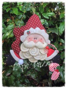 Patrones Santas y elfos 2014: patrón de papel de Santa Blueberry