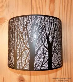 "Applique demi lune ""arbres"""