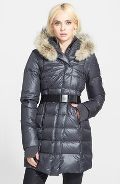 Rud by Rudsak 'Jacqueline' Genuine Coyote Fur Trim Asymmetrical Parka available at #Nordstrom