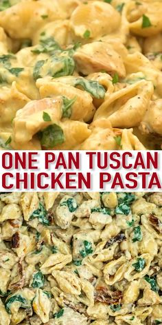 pasta recipes Tuscan Chicken Pasta is a quick and easy one-pan dish made with crispy chicken, sun-dried tomatoes, shell pasta, and soaked in a creamy white sauce. It is loaded with irresistible Italian flavors, and ready in about 30 minutes. Pasta Recipes Video, Pastas Recipes, Best Pasta Recipes, Chicken Pasta Recipes, Recipes With Rigatoni Pasta, Pasta Dishes With Chicken, Easy Italian Recipes, Mexican Pasta Recipes, Summer Pasta Dishes
