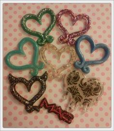 8 XL Resin Heart Pendants & More!