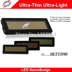 Find More LED Displays Information about T729 Red LED Name Badge Sign Scrolling Advertising/Business Card Show Display Tag,High Quality tag summer,China tag toy Suppliers, Cheap t729 from EVERTE LED Display on Aliexpress.com