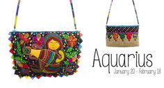 The Zodiac Collection by Ragmatazz is specially created for GecoStore.com. Each bag is made with jute (a natural and eco-friendly material) and the unique embroidery is inspired from the Mola Art of the Kuna Tribes from Panama. The embroidered flap is edged by small prairie points made from upcycled fabric scraps. The clutch closes with a magnetic clasp. Inside is fully lined with one zipper pocket. The bag also includes a long strap, so that it can be worn as a cross bag. This is a unique…