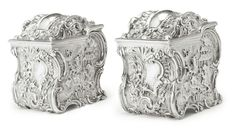 A Pair of William IV Silver Tea Caddies, Joseph and John Angell, London, 1834.