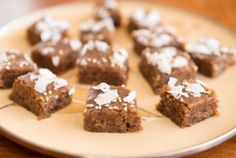 Date Brownies With Sesame and Coconut