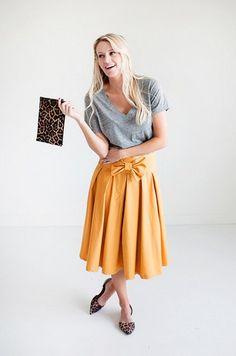 Bow Skirt - Mustard – Mindy Mae's Market