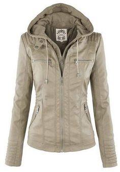 Elegante collar convertible de manga larga chaqueta de color sólido con…