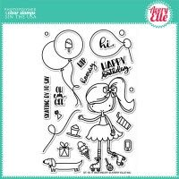 Avery Elle Clear Stamp - Skating By