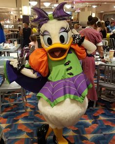 Daisy Duck in her new Halloween costume at Hollywood and Vine.  She's batrific…