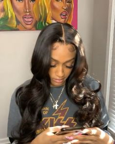 Source by whetevadestiny Baddie Hairstyles, Black Girls Hairstyles, Trendy Hairstyles, Weave Hairstyles, Straight Hairstyles, Modern Haircuts, Updo Hairstyle, Prom Hairstyles, Curly Hair Styles