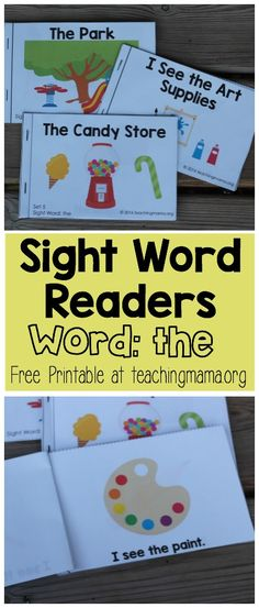 """Sight Word Reader for the Word """"The"""" -click through to get the free printable booklets!"""