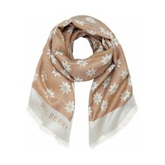 Mulberry - Monogram Scarf in Camel Star Jacquard