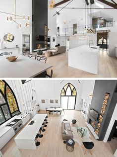 Linc Thelen Design together with Scrafano Architects have transformed a church into a home for a family with three young children, in Chicago, Illinois.