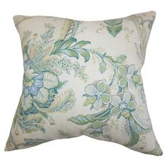 Add an elegant touch to your favorite arm chair or sofa with this lovely cotton pillow, showcasing a timeless floral motif.    Product: ...