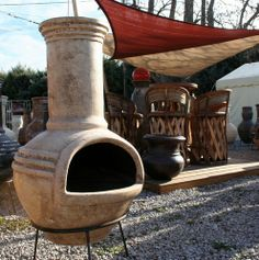 Brasero, cheminée mexicaine, four mexicain - Poele à bois mexicain, four à pizza Doble anillo Four A Pizza, Barbecue, Deco, Mood, Log Burner, Gardens, Double Ring, Bread Oven, Winter Garden