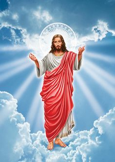 Jesus going up to heaven. Pictures Of Jesus Christ, Religious Pictures, Mary And Jesus, Jesus Is Lord, Divine Mercy Image, Jesus Christ Painting, Jesus Artwork, Jesus Wallpaper, Christ The King
