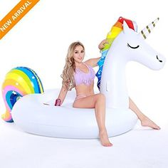 #beachaccessoriesstore Pool Float, Giant Inflatable Unicorn Pool Party Vacation Beach Toys for Adults Kids, Tongwing… #beachaccessoriesstore