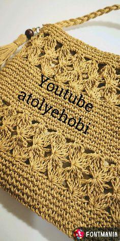 Cross-pocket - Bag and Purse Free Crochet Bag, Crochet Market Bag, Crochet Tote, Crochet Purses, Knit Crochet, Crochet Bag Tutorials, Crochet Videos, Crochet Designs, Crochet Patterns