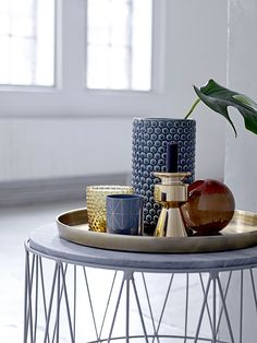 Mix blue shades for the Nordic feeling <3 Design by Bloomingville