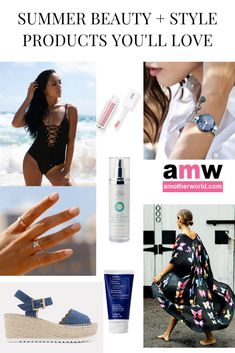 Here are the Summer Beauty and Style Products You'll Love – amotherworld Summer Kimono, Facial Cream, Fashion Beauty, Womens Fashion, Summer Beauty, Signature Collection, Summer Wardrobe, Kai, Swimwear