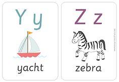 Alphabet Flash Cards | Mr Printables