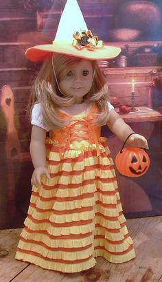 Candy Corn Witch for American Girl by MyGirlClothingCo on Etsy