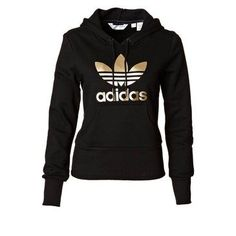 Adidas black and gold jumper gold adidas, black adidas, gold hoodies, gold Sporty Outfits, Cute Outfits, Fashion Outfits, Fashion Models, Gold Adidas, Black Adidas, Addidas Shirts, Adidas Hoodie, Looks Adidas
