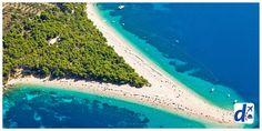 A Zlatni Rat Beach, na Croácia, muda de forma de acordo com o vento as correntezas. Uma praia meio camaleônica...
