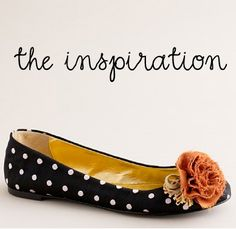 inspiration-J-Crew-flats - I want to make this shoe clip!