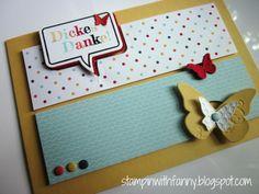 stampin up word bubbles thank you card dankeskarte meine welt beautiful wings ganz schön aufgeblasen sprechblasen