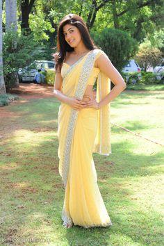 Pranitha in Yellow Saree